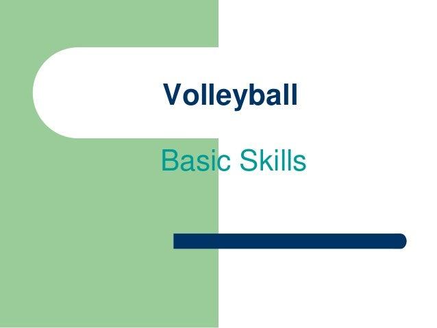 Basic Volleyball Skills