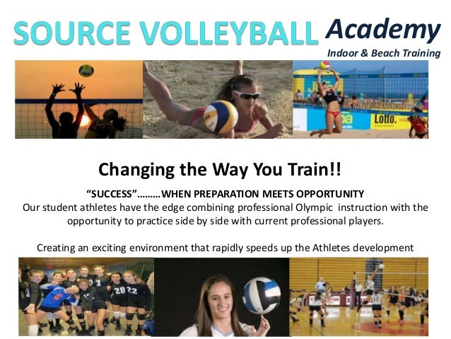 "Academy Indoor & Beach Training  Changing the Way You Train!! ""SUCCESS""………WHEN PREPARATION MEETS OPPORTUNITY Our student a..."