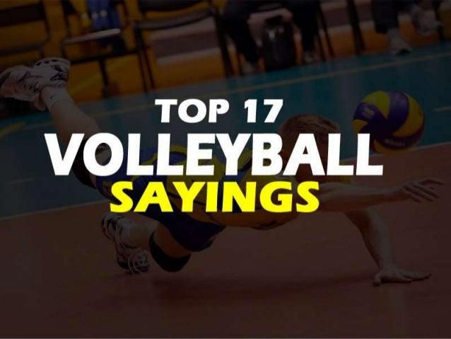 Volleyball Inspirational sayings