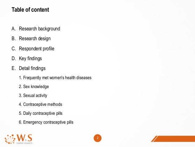[Report] Sexual Activity and Contraceptive Methods for Female in 2014 Slide 2