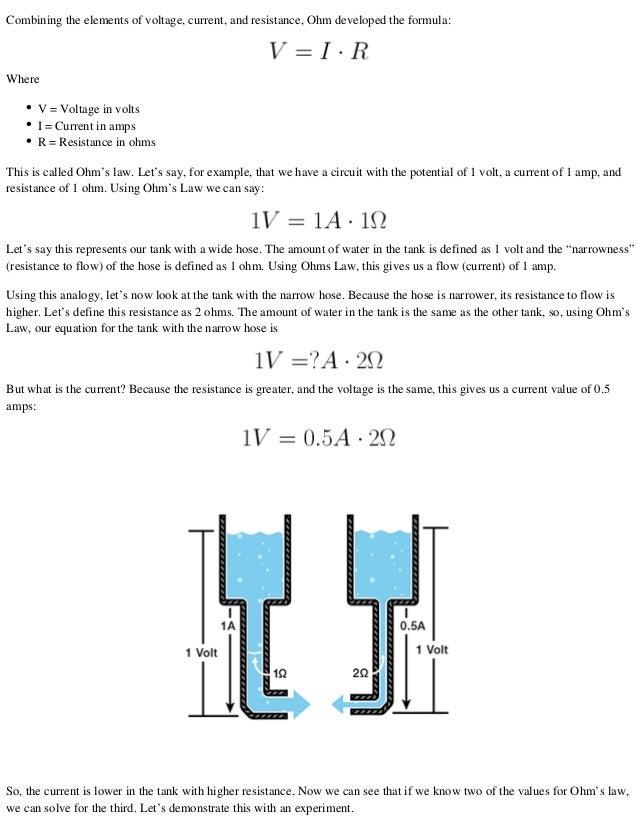 Voltage Current Resistance : Voltage current resistance and ohm s law