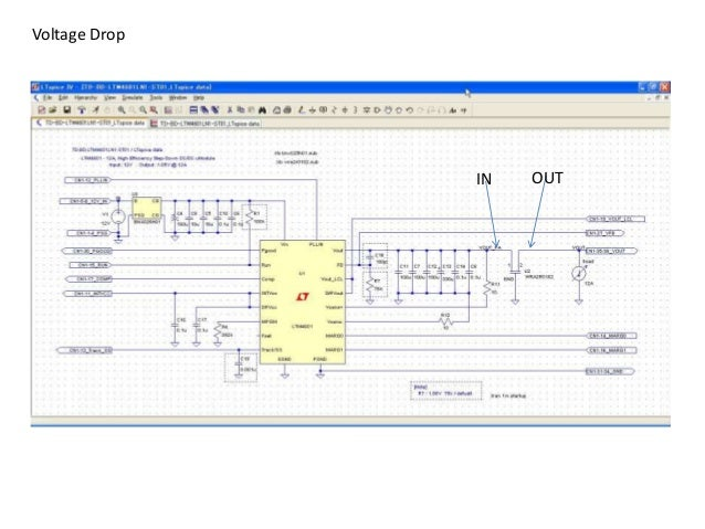 IN OUT Voltage Drop