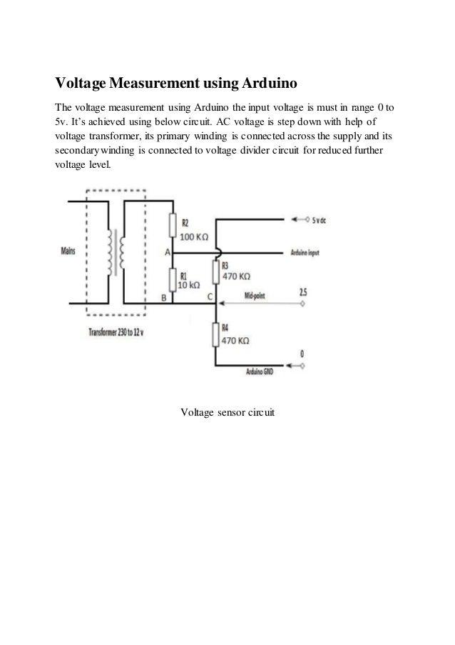 Voltage measurement using arduino