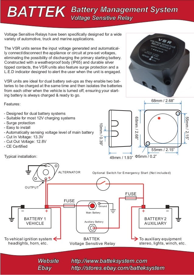 BATTEK Battery Management System Website http://www.batteksystem.com Ebay http://stores.ebay.com/batteksystem Main Battery...