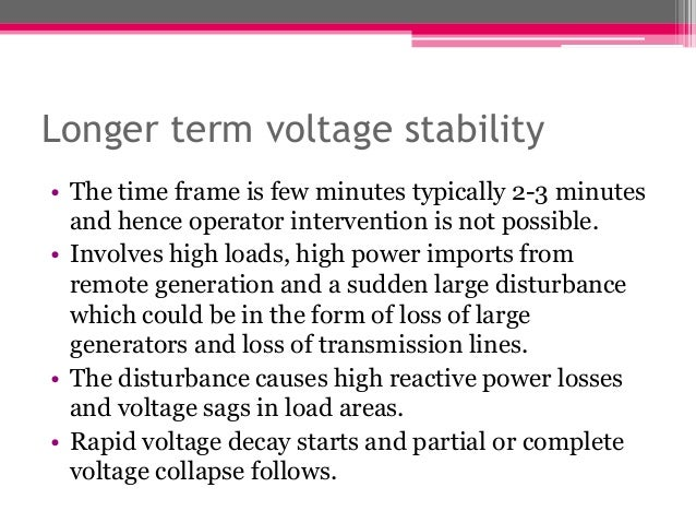 Power System Voltage Stability