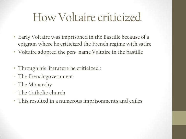 Voltaire's Use of Satire in Candide Essay