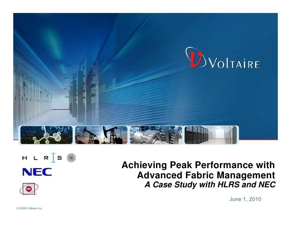 Achieving Peak Performance with                           Advanced Fabric Management                            A Case Stu...