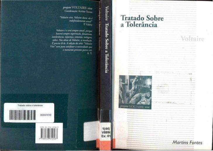 Voltaire. Tratado Sobre a Tolerância a propósito da morte de Jean Calas