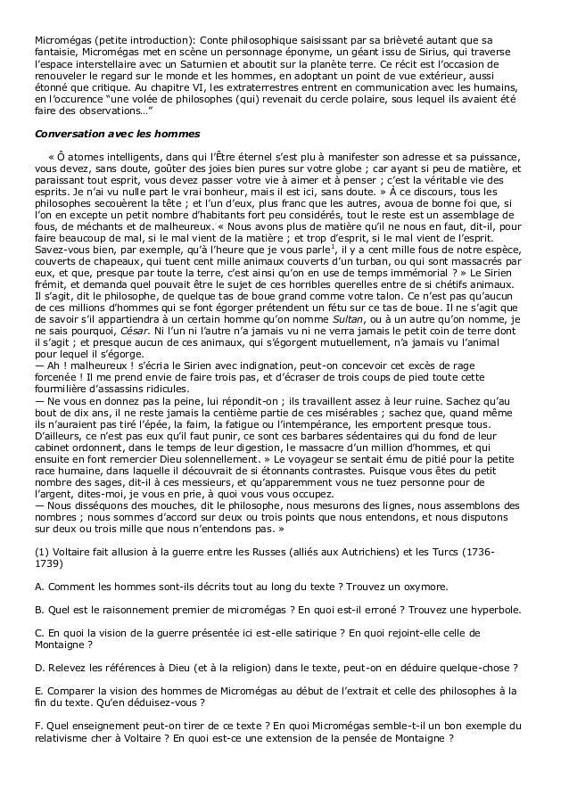 dissertation sur micromegas de voltaire