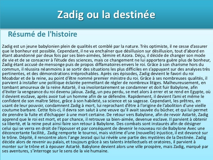 introduction commentaire voltaire zadig