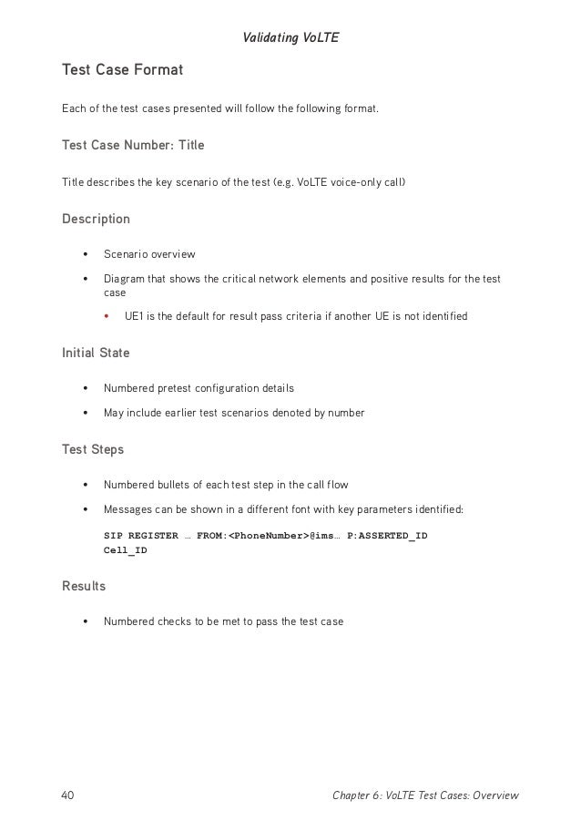 Volte introduction 41chapter 6 volte test cases overview validating volte stopboris Images