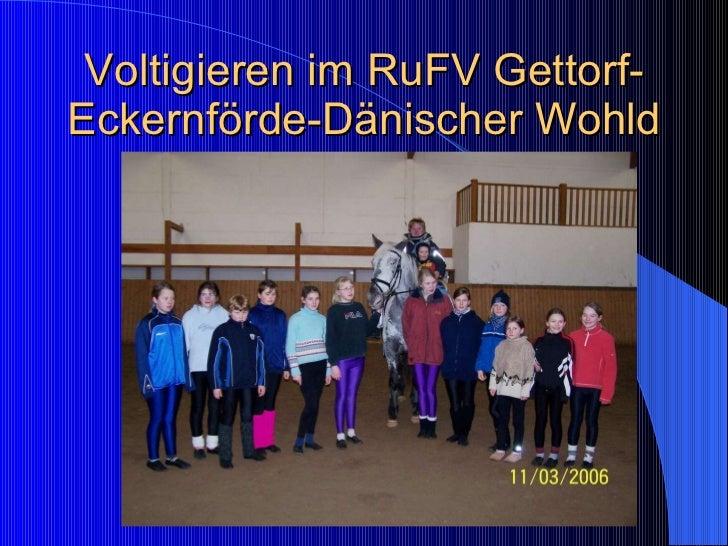Voltigieren im RuFV Gettorf-Eckernförde-Dänischer Wohld
