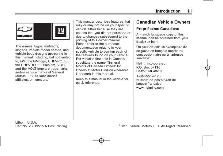 2012 chevrolet volt owners manual rh slideshare net 2015 chevrolet volt owners manual 2013 chevrolet volt owners manual