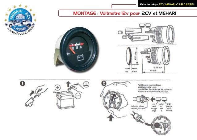 voltmetre 2cv mehari