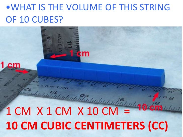 What is cubic cm