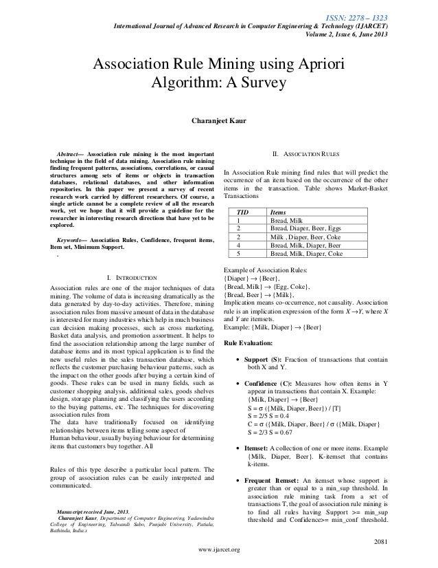 ISSN: 2278 – 1323 International Journal of Advanced Research in Computer Engineering & Technology (IJARCET) Volume 2, Issu...