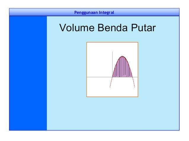 Penggunaan Integral Volume Benda Putar