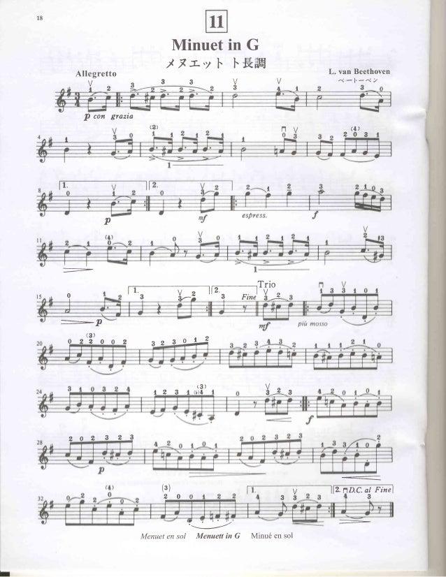 Suzuki Violin Book  Minuet In G