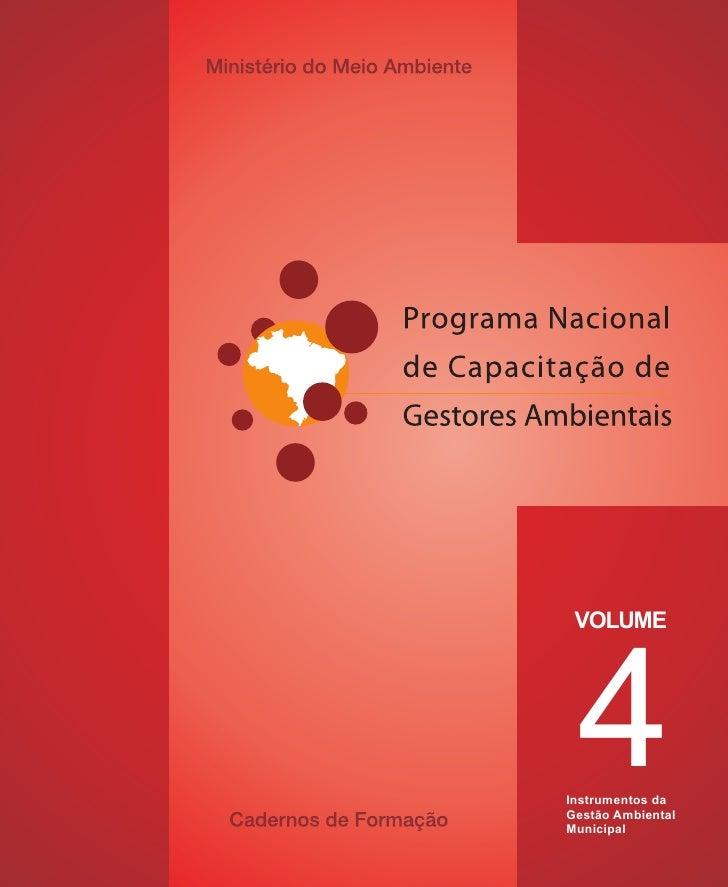 4  VOLUME     Instrumentos da Gestão Ambiental Municipal