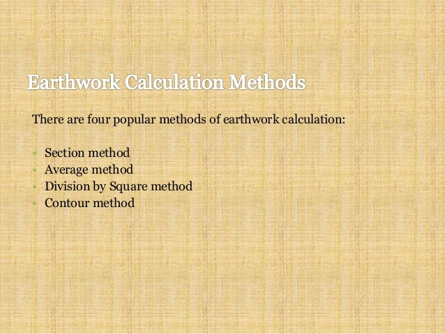 contour method 5 preparing for earthwork calculation finding the grid levels