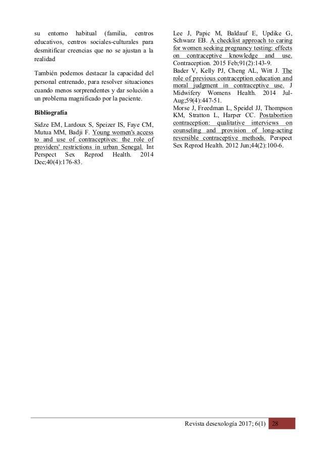 Revista desexología 2017; 6(1) 28 su entorno habitual (familia, centros educativos, centros sociales-culturales para desmi...
