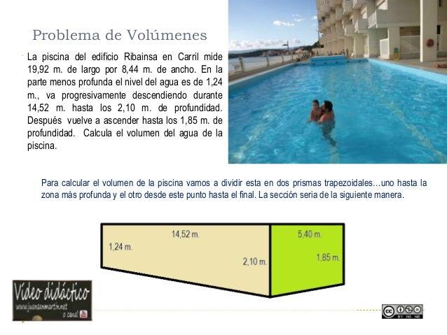 Tema geometr a reas y volumenes for Calcular volumen piscina