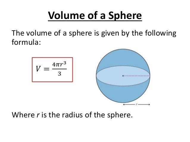 Volume of a sphere volume ccuart Choice Image