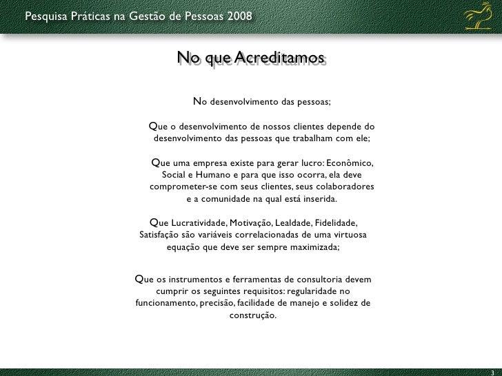 Práticas de Gestão de Pessoas 2008-9 Slide 3