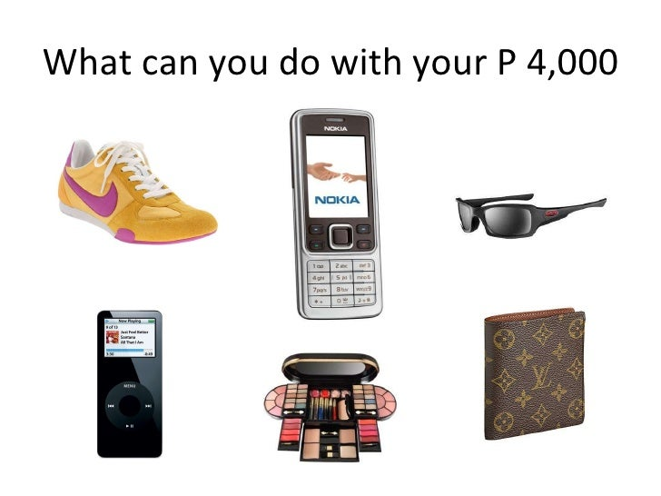 What can you do with your P 4,000