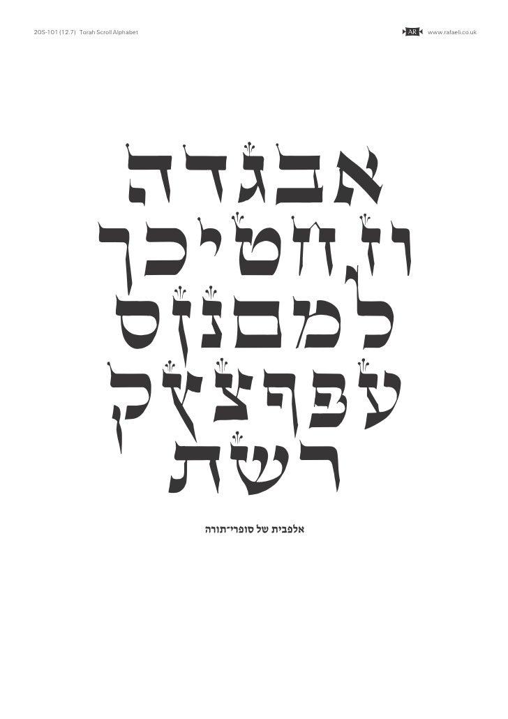20S-101 (12.7) Torah Scroll Alphabet                          C   www.rafaeli.co.uk                           HDGBA       ...