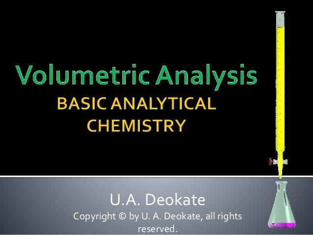 U.A. Deokate Copyright © by U. A. Deokate, all rights reserved.