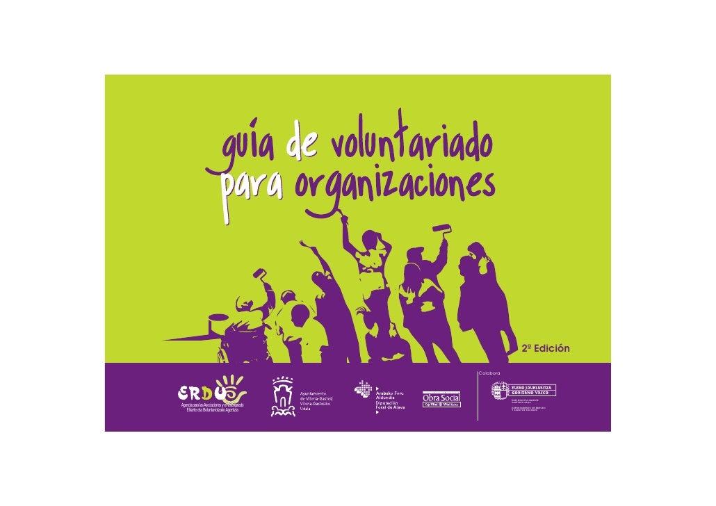 Guía de voluntariado para asociaciones