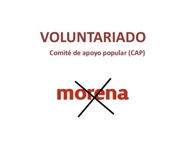 VOLUNTARIADO Comité de apoyo popular (CAP)