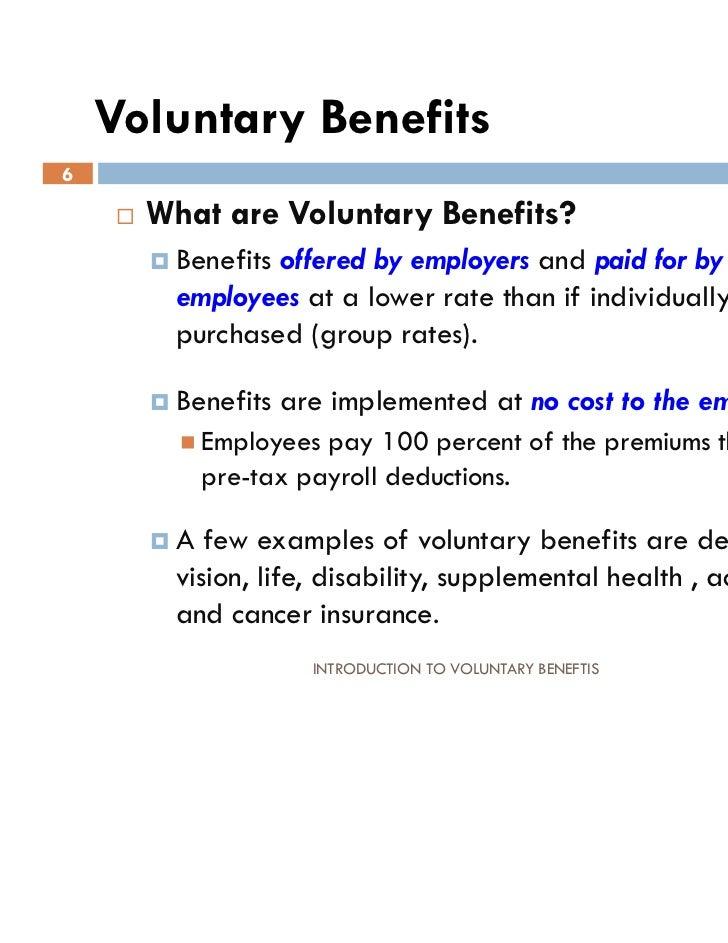 INTRO TO VOLUNTARY BENEFITS