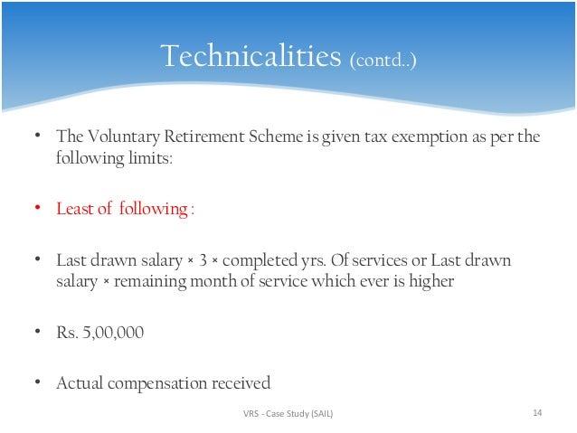 voluntary retirement scheme tax exemption