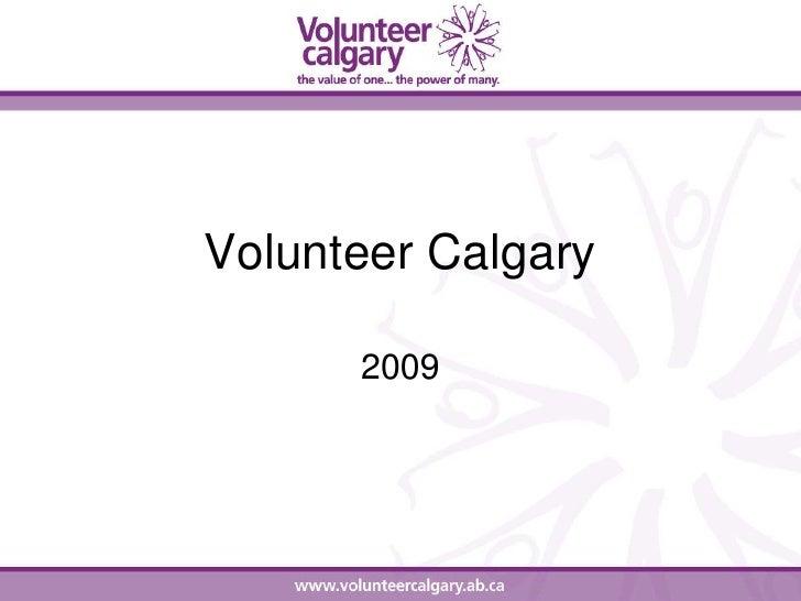 Volunteer Calgary        2009