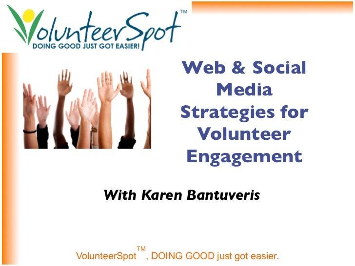 Web & Social                         Media                     Strategies for                       Volunteer             ...