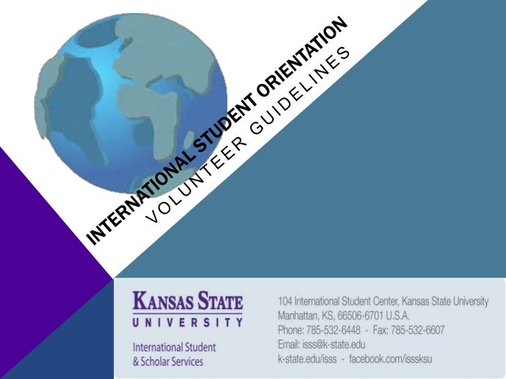 INTERNATIONAL STUDENT ORIENTATION        VOLUNTEER GUIDELINESTHANK YOU for volunteering your time to help with the   Inter...