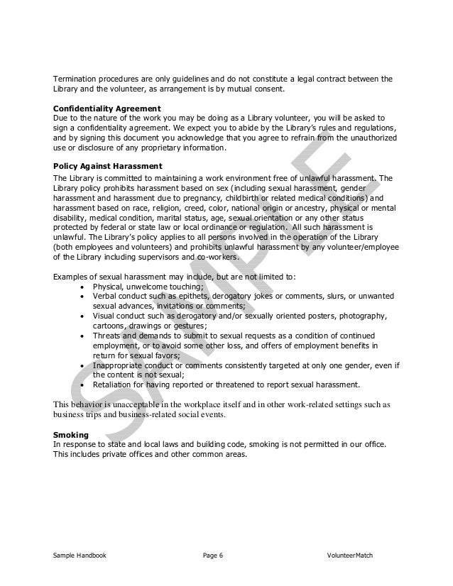 Non Profit Volunteer Policy And Procedures Manual Template Free ...