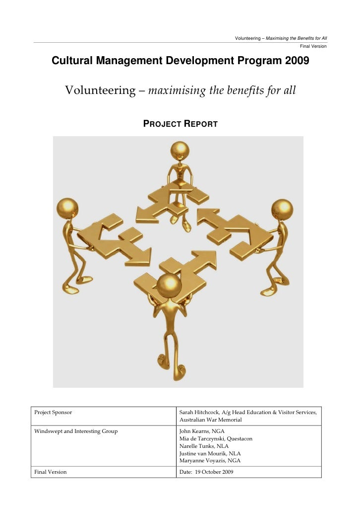 Volunteering – Maximising the Benefits for All                                                                            ...