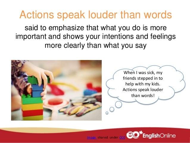 Your Actions Speak Louder Than Words: Volunteering Idioms