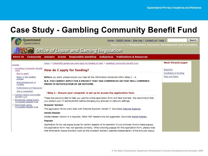 community gambling benefit fund guidelines
