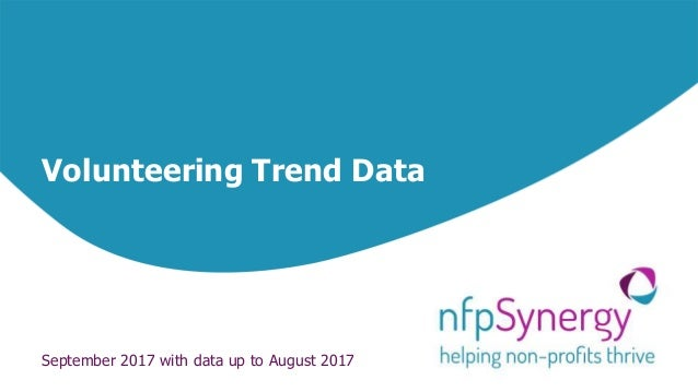 Volunteering Trend Data September 2017 with data up to August 2017
