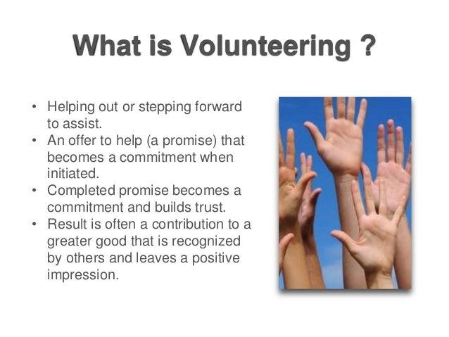 Volunteering Your Way Up the Career Ladder Slide 3
