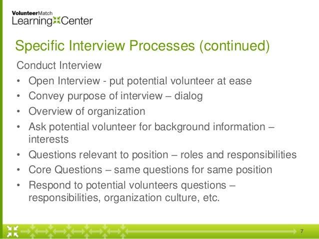 Successful Volunteer Interview Strategies