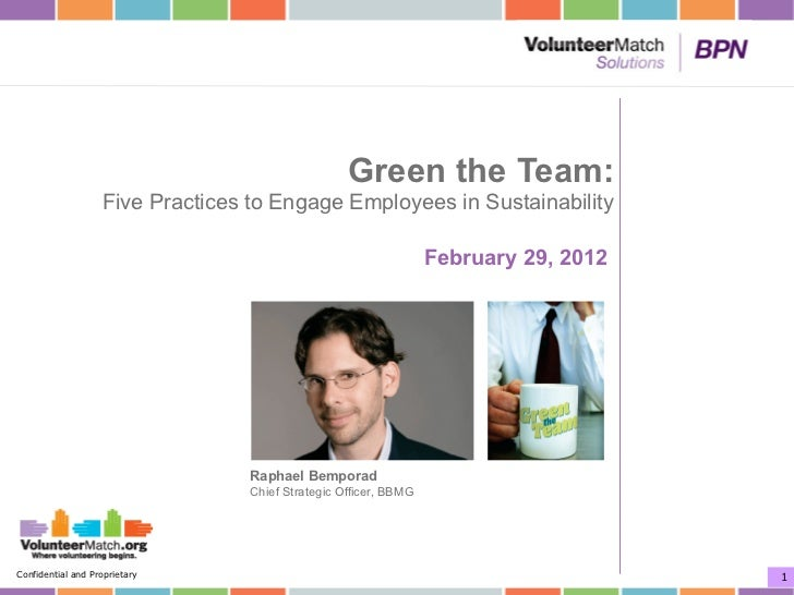 Green the Team:                   Five Practices to Engage Employees in Sustainability                                    ...