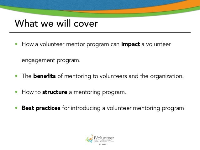 Introducing a Volunteer Mentoring Program - Part I