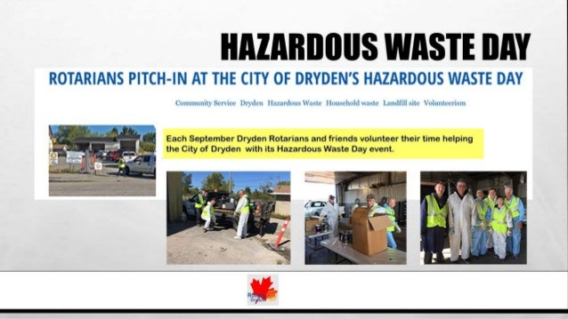 Volunteer Opportunities: Rotary Club of Dryden (ON, Canada) Slide 2