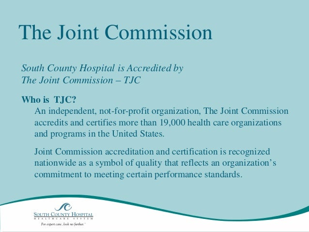 joint commission accreditation certification and licensing essay More recently, the joint commission began offering a variety of certification programs, listed below an organization does not have to be joint commission-accredited to apply for a certification, but many.