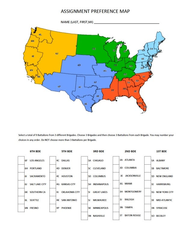 United States Army Recruiting Mand Usarec Us: Us Army Recruiting Regions Map At Usa Maps